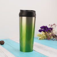 Promotion personalise reusable double wall coffee cup stainless steel thermos flask