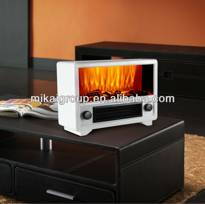 Hot Sale Table Mini Electric Flame Effect Heater Csa Ul With Mp3 And Radio