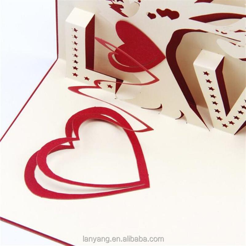 Biglietto Auguri Matrimonio Pop Up : D pop up biglietto di auguri albero amore anniversario