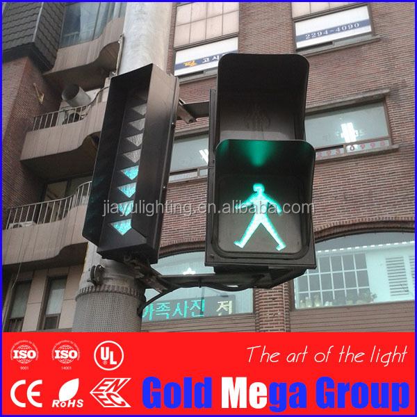 220V 200mm flashing warning signal traffic light 300m pedestrian LED traffic signal light