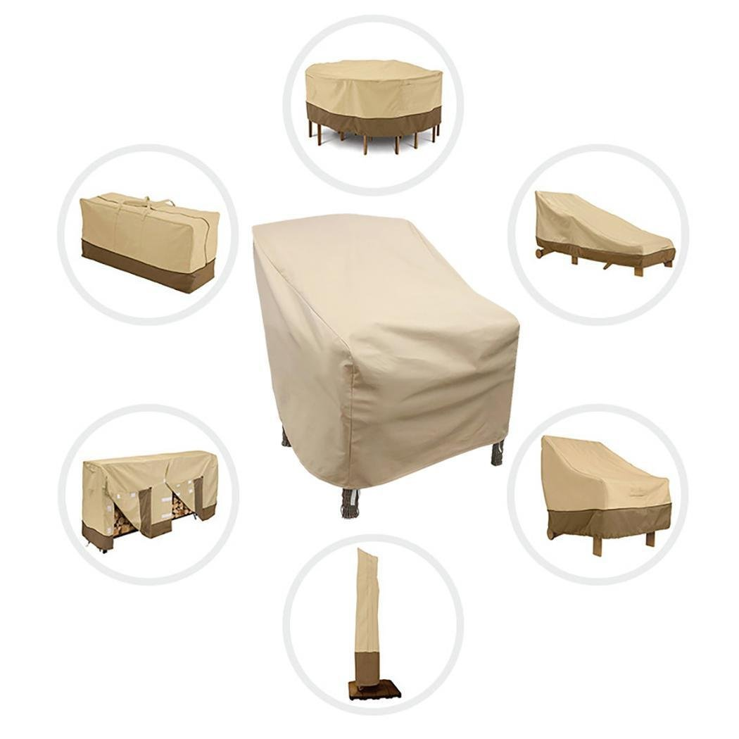 Large Patio Furniture Cover, Durable and Water Resistant Outdoor Furniture Sets Cover 26.8 x 34.3 x 30.3inch, Beige