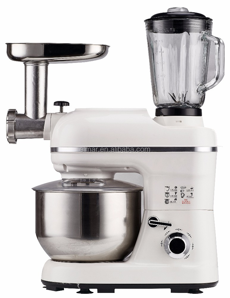 Multifunctional stand mixer, variable 5 speed and Pulse IC control with CE, GS, LFGB, REACH, ROHS