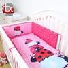Cartoon bugprinted design baby bed polyester baby crib bumper