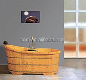With Faucet Cedar Wooden Bathtub 048a