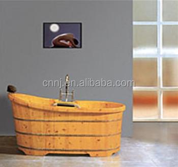 With Faucet Cedar Wooden Bathtub (048A)