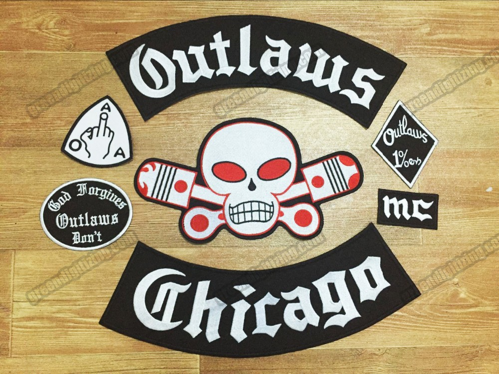 2019 hot sale outlaw chicago forgives embroidered iron on. Black Bedroom Furniture Sets. Home Design Ideas