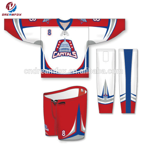 2018 Team Set Sublimated Custom Ice Hockey Jerseys Blank Wholesale 100% Polyester reversible goalie ice hockey jerseys