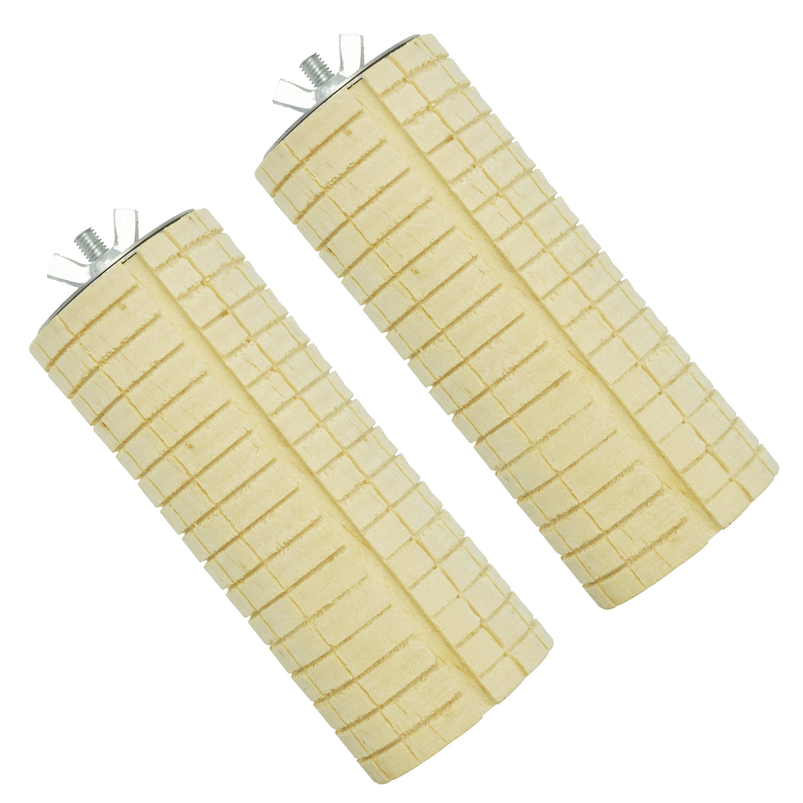 Niteangel Wooden Small Animal Cage Toy, Teeth Grinding Chew Toy for Hamster Rat Chinchilla, Wooden Cage Platform, 2 Pack