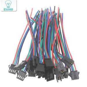 4pin JST SM Connector Male to Female Plug Connector Cable for 5050 3528 2801 8806 RGB LED Strip Lamp LED curtain Lights