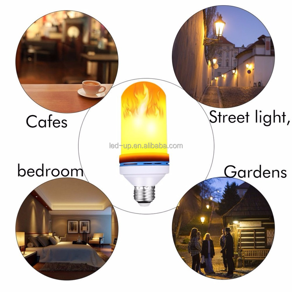 Hot Selling Groothandel 5 W Led Vlam Gloeilamp E26 Fire Flickering Torch Led Fake Vlam Licht