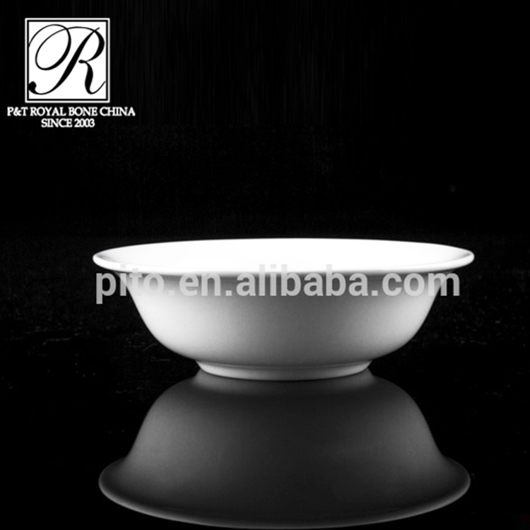 P&T Royal Ware White 4.75 Inch Ceramics Porcelain Soup Bowls for Restaurant