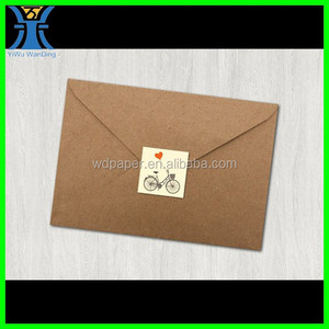 Yiwu New Arrived plain blank brown handmade Cardboard envelope kraft