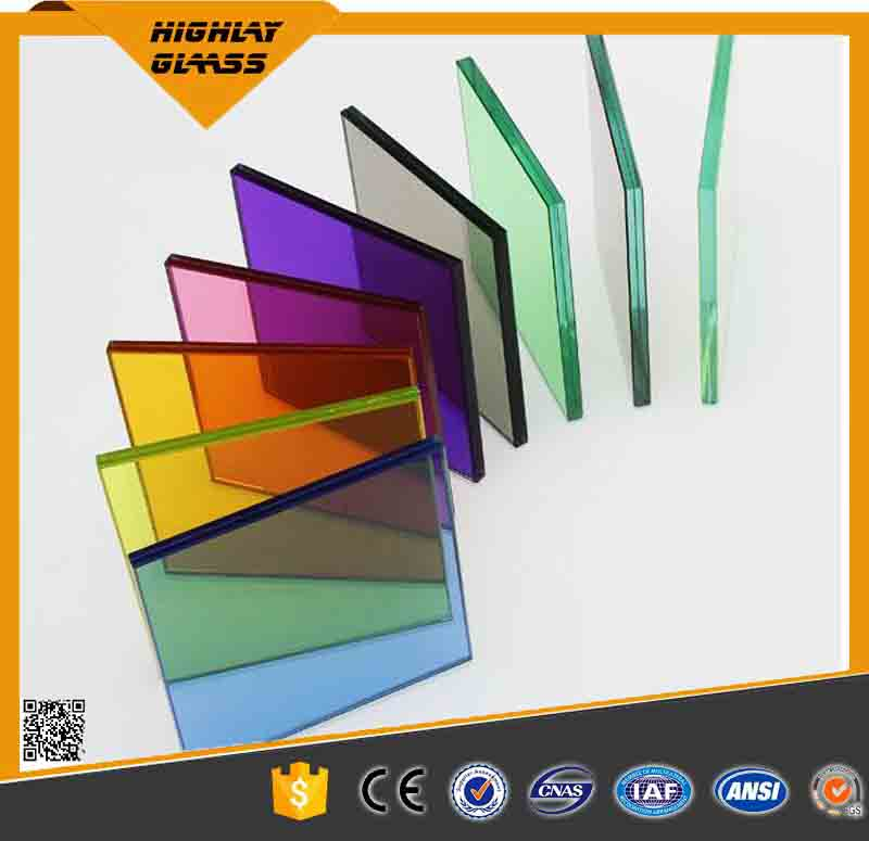 6.38-42.3mm Laminated Color Tempered Glass Price