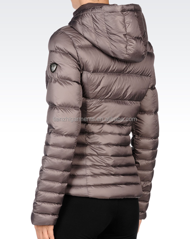 Zip Up Goose Feather Winter JacketFeather Down JacketsGoose
