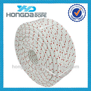 14mm X 100m white with red trace polyester Marine Rope