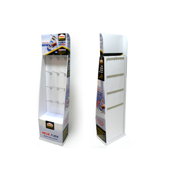 Easy Assemble Blister Cardboard Flexible Materials Paper Display Rack Riser