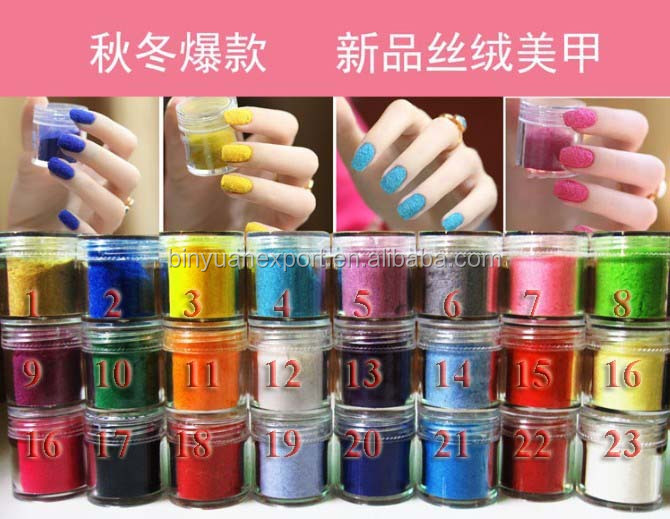 Beautiful colour  Nail Art Velvet Powder nail art powder for flocking nails
