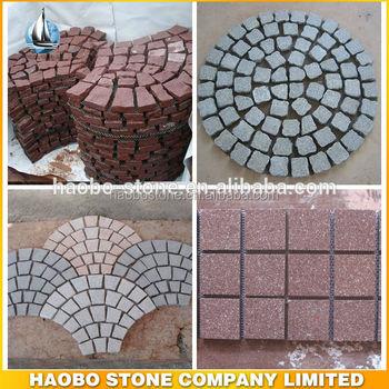 haobo stone outdoor stone mat cobblestone pavers driveway stone mat - Cobblestone Pavers