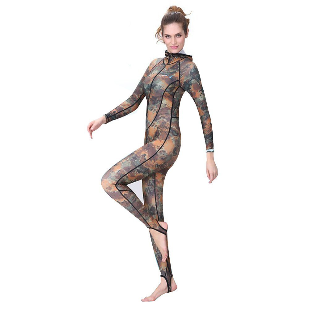 78fc06c5453 Buy Wetsuit Dive Skin Full Suit with Hooded and Super-stretch Armpit ...
