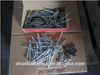 Umbrella galvanized roofing nails with rubber washer