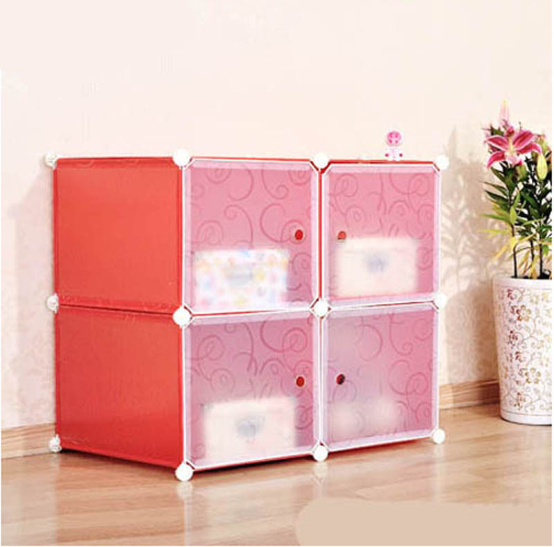 4 Cubes India Cheap Storage Cabinets Plastic Living Room Cabinets Fh ...