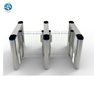 China Factory Half Height Speed lane Turnstile Gate IC/ID card Waist Flap 304 Stainless Steel Barrier for Office building