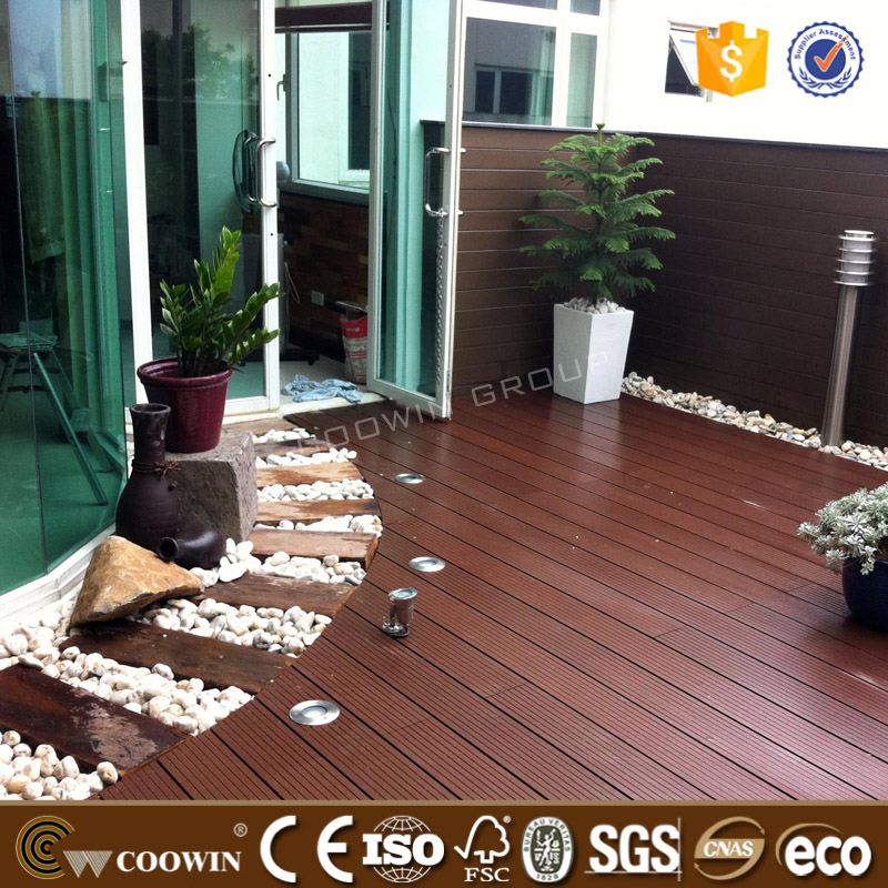 Log Material Bamboo House wpc outdoor decking Garden Wood <strong>Flooring</strong>