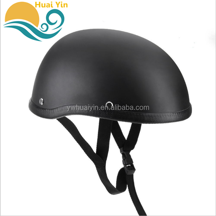 New Product wholesale Black Abs material Half Face Retro Motorcycle Funny Riding Motorcycle Helmet