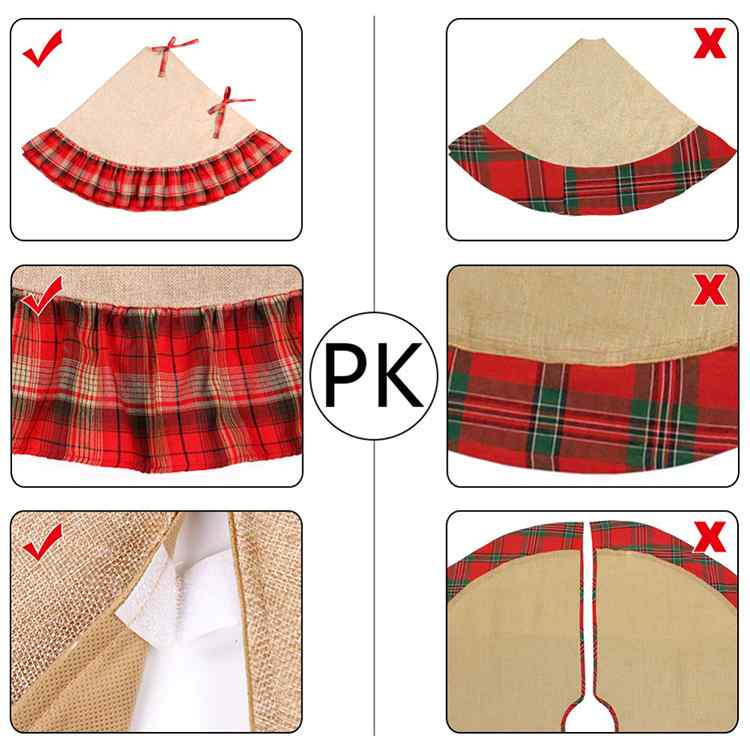 2017 Wholesale Pastoral Style Burlap Home Christmas Decorations Christmas Tree Skirts