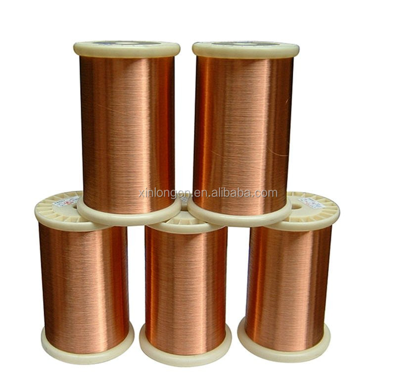 Copper coated aluminum enameled wire for induction cooker