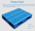 Flat and cleaning solid deck pallet euro type plastic pallet
