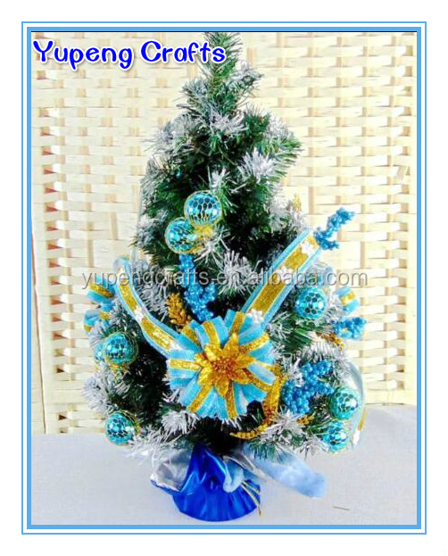 Blue Artificial Mini Table Christmas Tree Decorated Christmas Tree