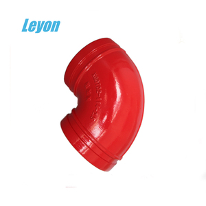 "FM UL Approved ductile iron pipe fittings price 1""-24"" ansi b1.20.1 90 elbow"