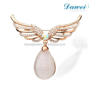 Fashion High Opals droplets brooch Angel Wings Brooch
