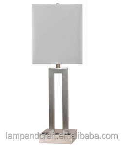 Saa Circle Metal Modern Table Lamp With Square Base And Square ...
