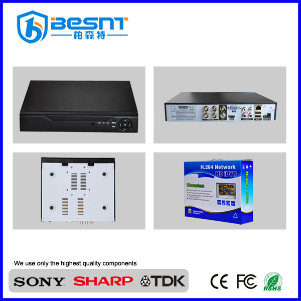 Best quality low cost 720p 4TB HDD motion detection recording 3G P2P ahd zoom recorder cctv dvr BS-AHD08T