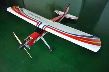 Balsa Wood Model Airplane Falcon Trainer 20cc Gas 73 2