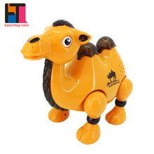hot sale battery operated cartoon animal small plastic toy camels with light and music