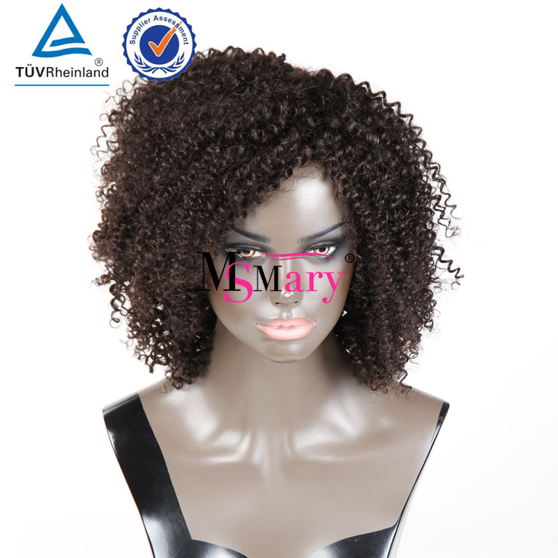 Blonde Curly Wigs Human Hair Afro Wigs Kinky