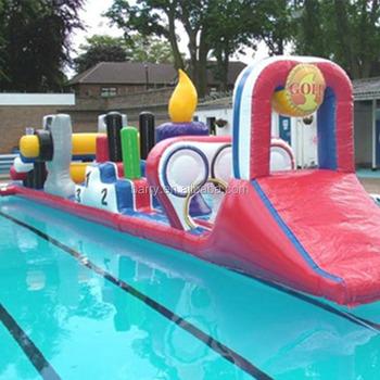 Schwimmende Aufblasbare Hindernisparcours Für Kinder Zum Verkauf,  Wassersport Spielgeräte Für Schwimmbad/aqua Pool