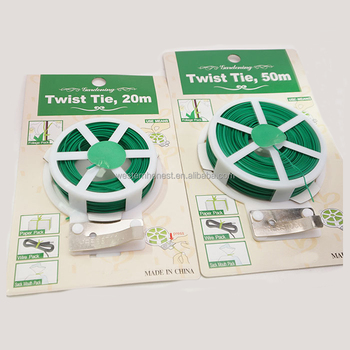 2mm*50m Oem Green Garden Soft Twist Wire Tie Garden Plant Tie ...