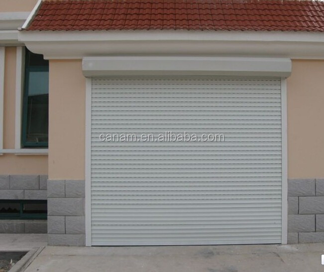 Electrice remote control up-ward sliding single/double sectional panel garage door/gate