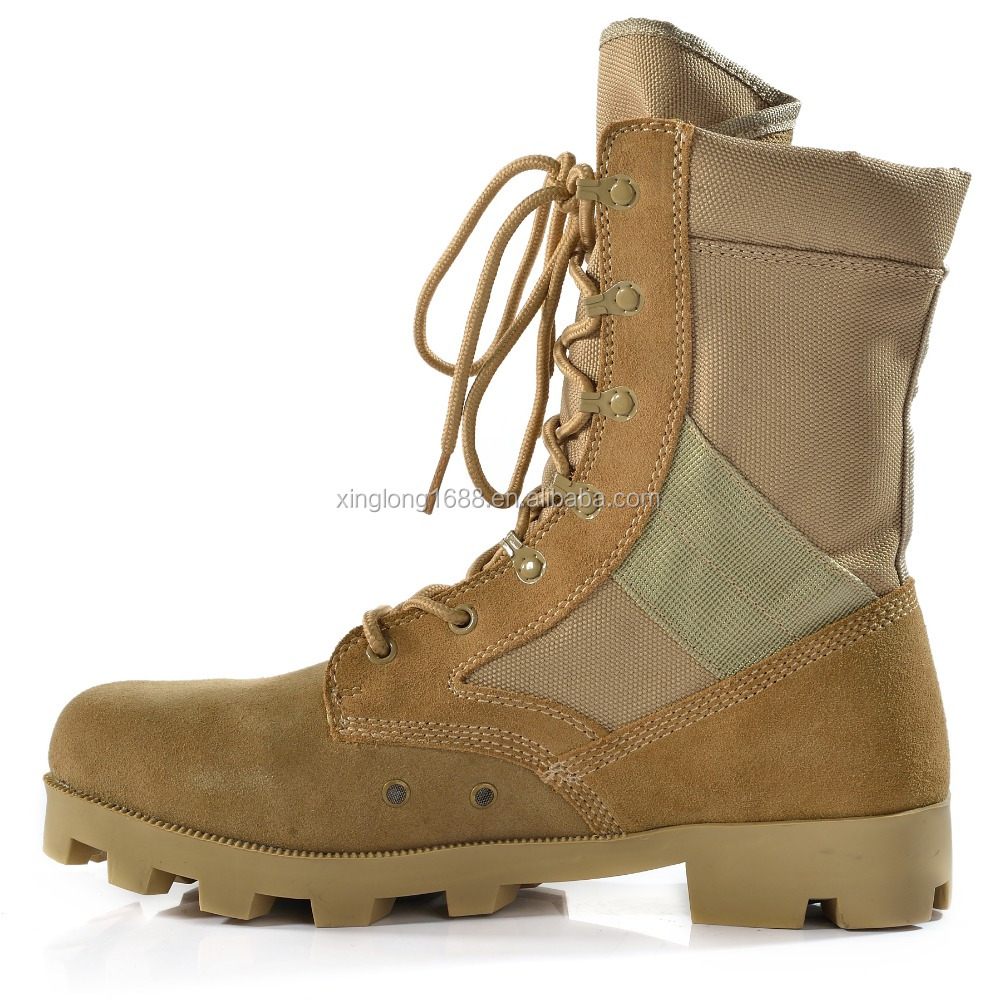 New outdoor used sand tactical boot for summer