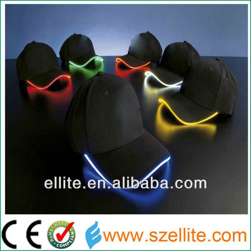 rechargeable led lighting cap with various colors