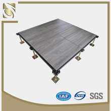 Calcium sulphate raised floor system with wood grain