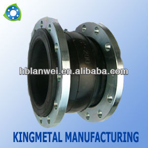 single ball rubber expansion joint with flanges