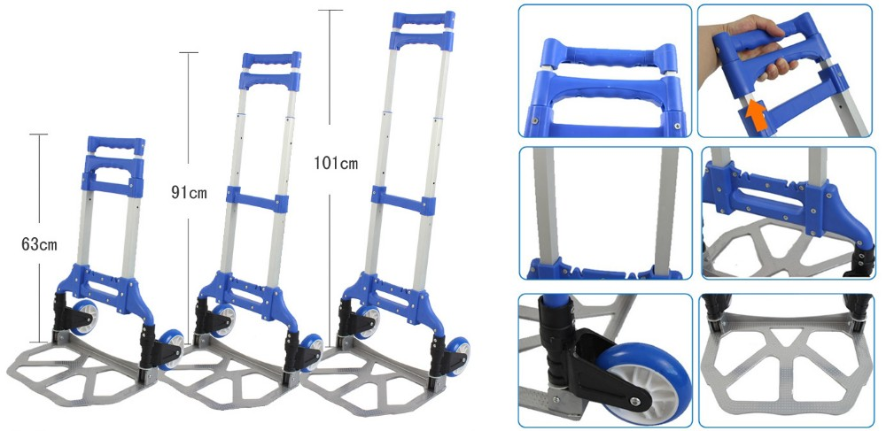 Lightweight foldable two wheels hand truck/hand trollley/luggage trolley for sale
