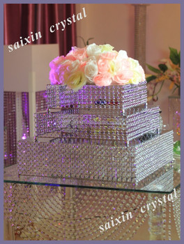 Gorgeous Tiered Crystal Wedding Cake Stand For Large Simulation Wedding Cake Buy Tiered Crystal Wedding Cake Stand Square Wedding Cake Stands 3 Tier