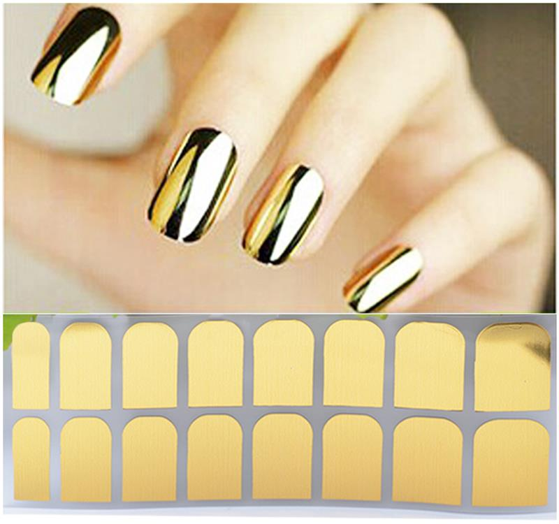 New Hot Upscale Fashion ashion Smooth Gold Foil Armour Nail Sticker Art Decoration Sticker professional Patch
