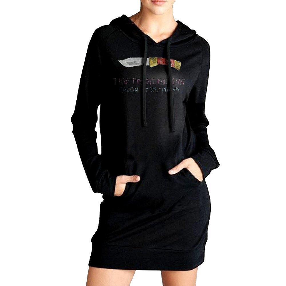Elva Women Pockets Tunic Top Front Bottoms Talon Of The Hawk Sweatshirt Dress XL Black